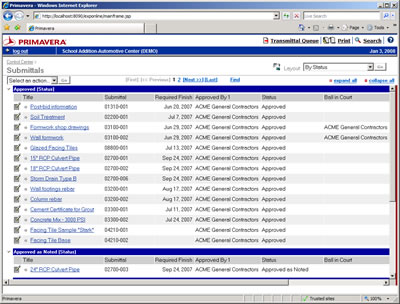 Construction Submittal Log http://www.ipsys-3.com/primavera_contract_manager.html