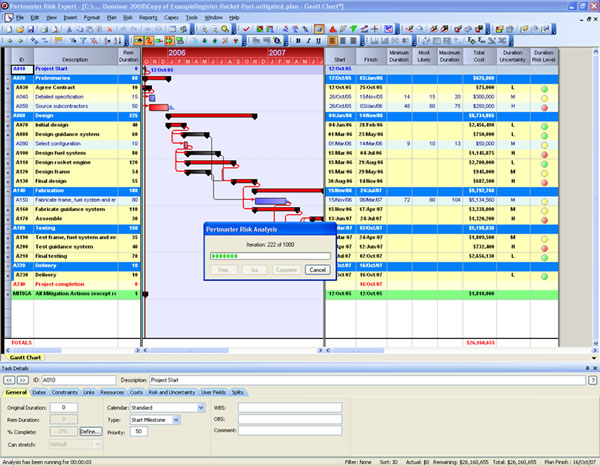 Ip System 3 Primavera Risk Analysis Formerly Pert Master